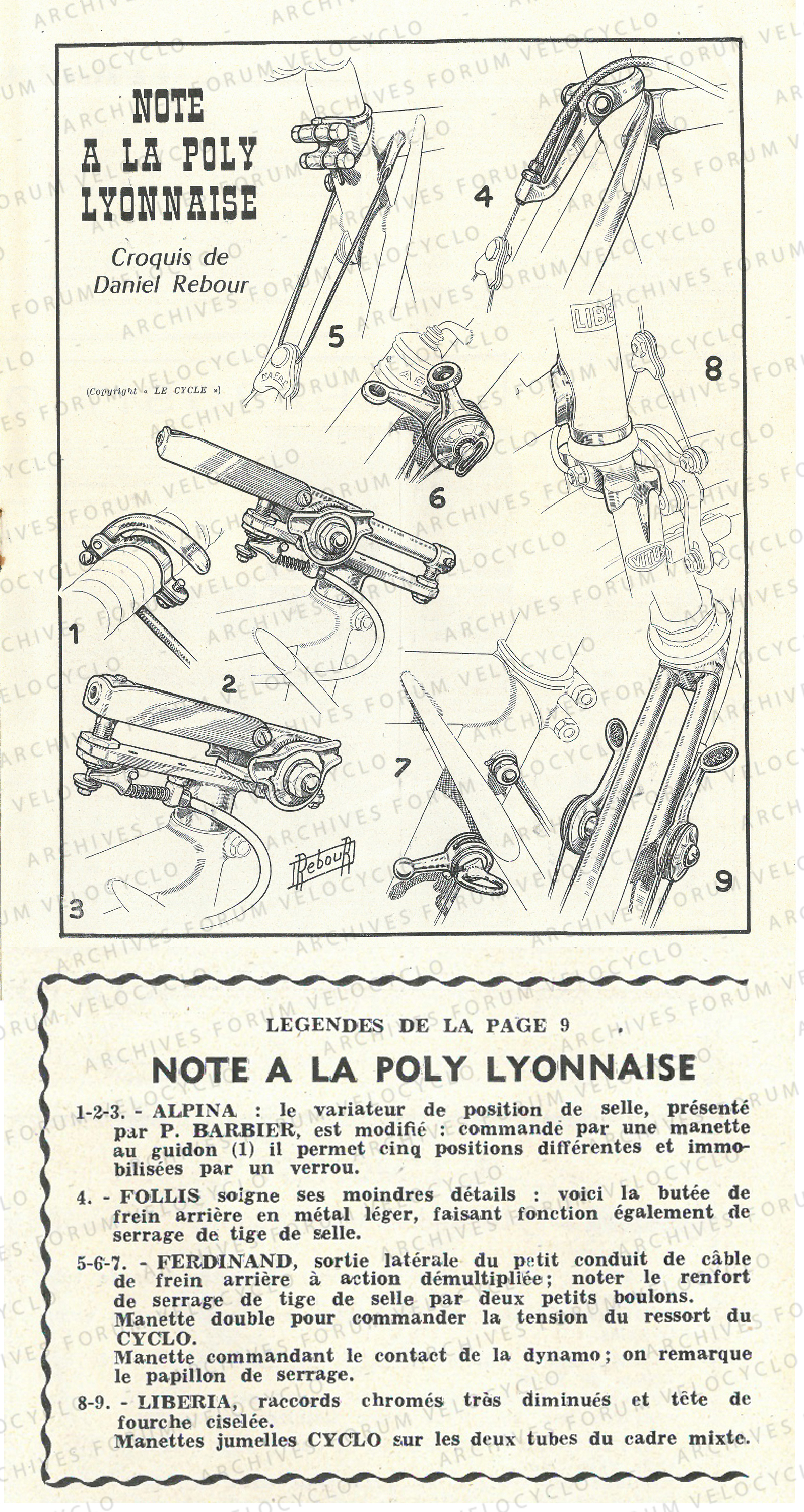 LE CYCLE SEPT.53 P8 9 FERDINAND VELOCYCLO copie