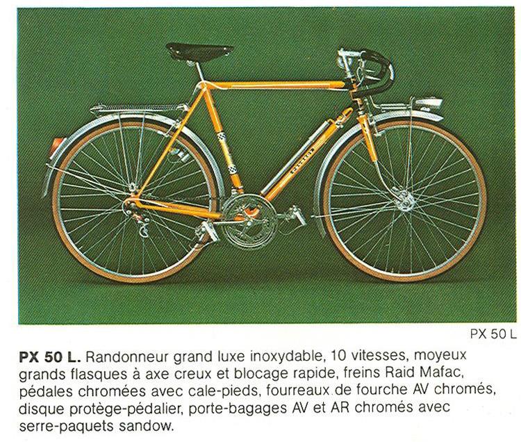 Randonneuse ou course monté randonneuse? 6327-Peugeot1975CatalogFranceTourismePX50LRandonneurBikeBoomPeugeot